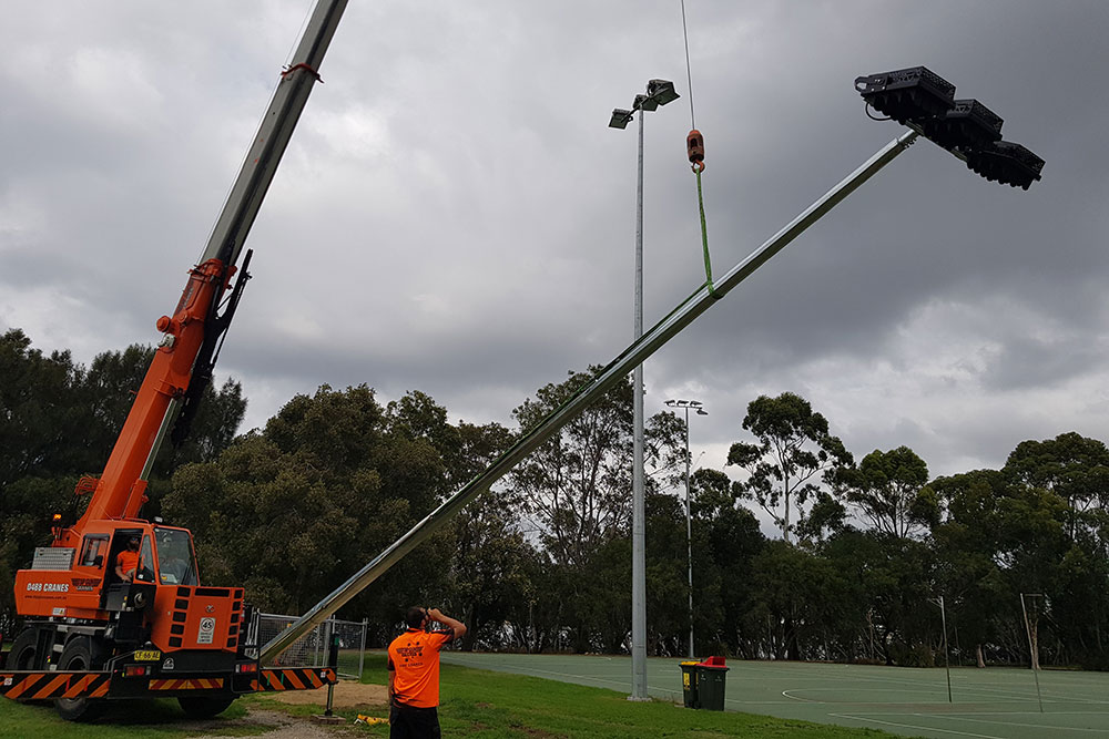 Meadowbank Sports Lighting, Power by Watts, Electrical projects