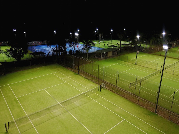 Tennis Centre Lighting Upgrade, Power by Watts
