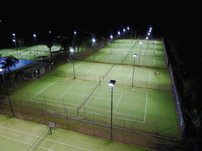 Tennis Centre Lighting Upgrade, Power by Watts