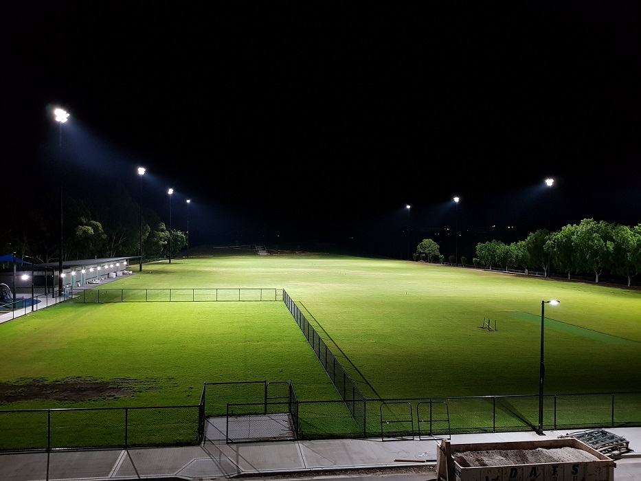 Bressington Reserve Sports Lighting, Power by Watts Electrician