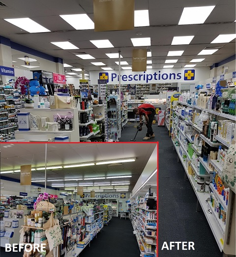 LED Shop Lighting, Power by Watts Electrician